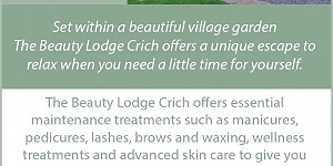 Beauty Lodge Crich advert