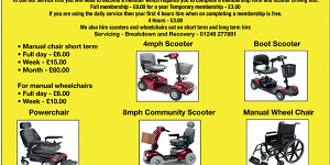 Chesterfield Shopmobility advert
