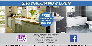 Advert for Noble Kitchen, Bedroom and Bathroom. Call 07980 096146