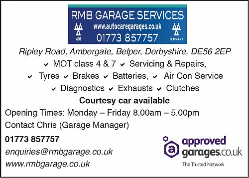 Advert for RMB Garage Services