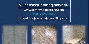 Advert for Tommy James Tiling. Call 07712 602447