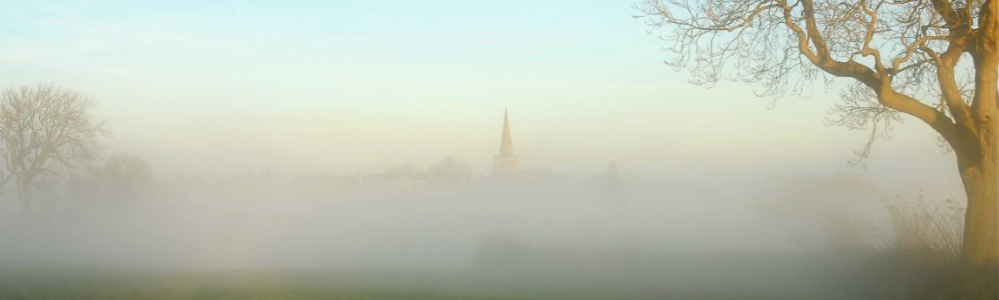 St Mary's in the mist by Paul Yorke