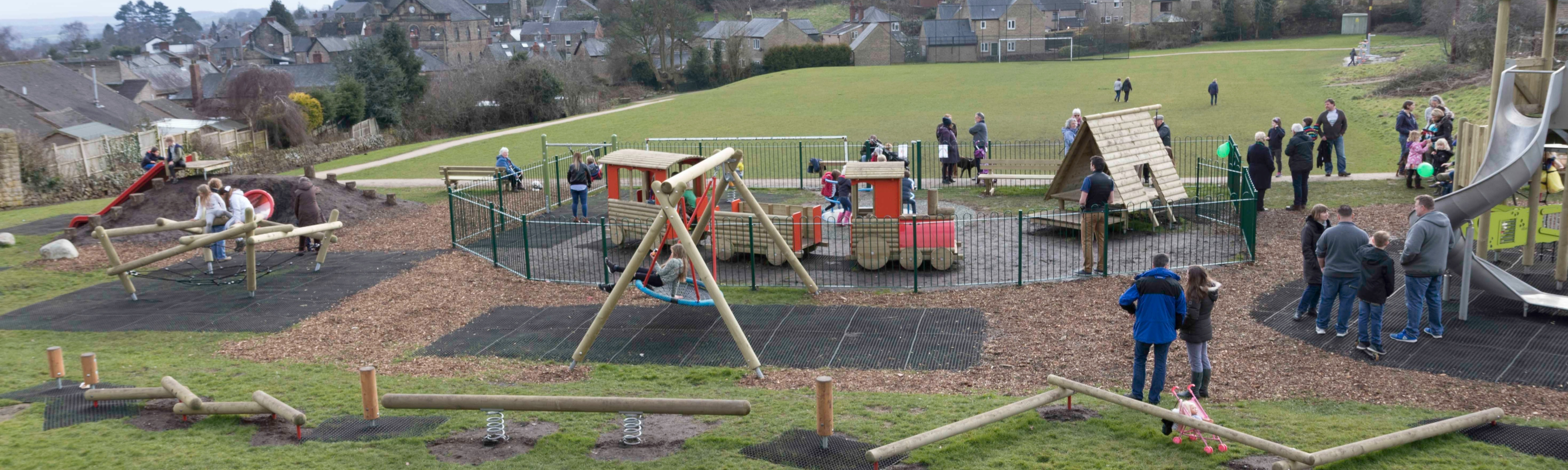 Play area in Crich Recreation Ground by Paul Yorke