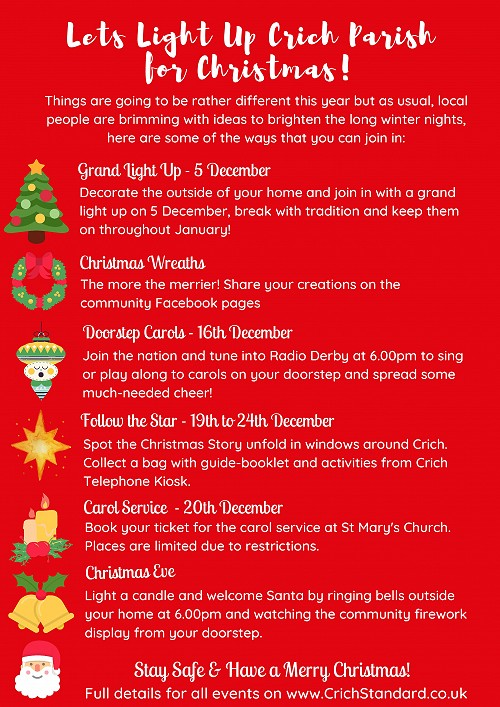 poster of Christmas activities