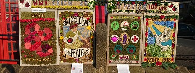 Image of 2018 Well Dressings in Crich Market Place