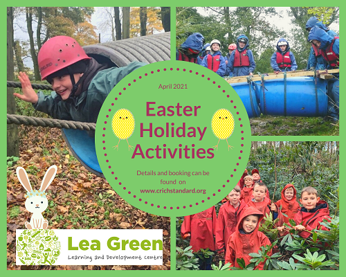Poster advertising Easter Holiday Activities
