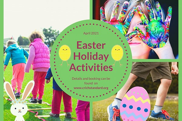 Poster advertising the Easter Holiday Activities