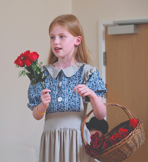 child in a school play