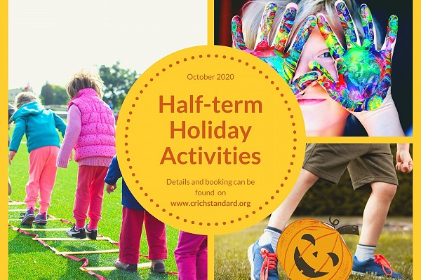 Poster advertising half term holiday activities