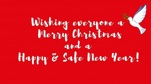 Wishing everyone a Merry Christmas and a Happy and Safe New Year