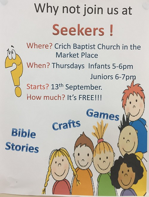 Seekers Club for primary school children at Crich Baptist Church