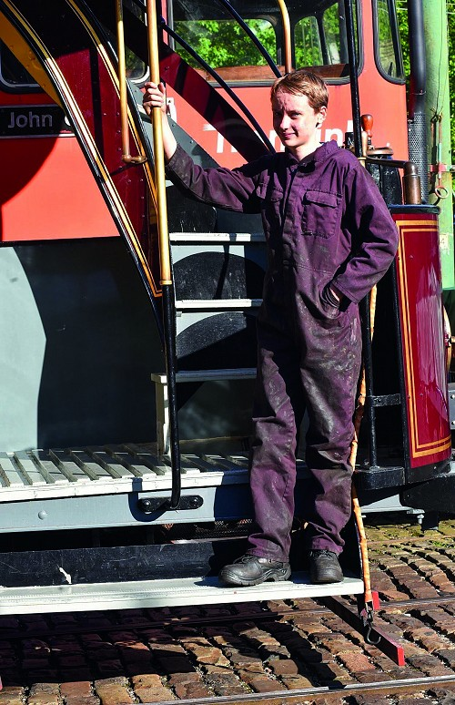 Volunteer on one of the Tramway Village trams