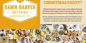 Advert for Dawn Harper Catering