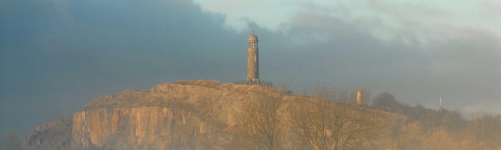Stormy scene over the Crich Monument