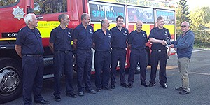 Crich Firefighters receive the award