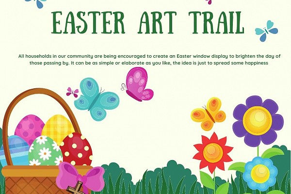 poster advertising the Easter Art Trail