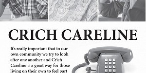 advert for Crich Careline. call 01773 853754