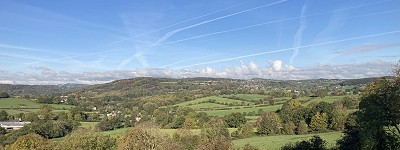 View from Heage to Crich