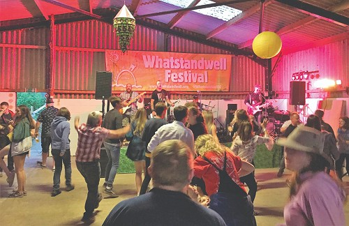 People dancing at Whatstandwell Festival
