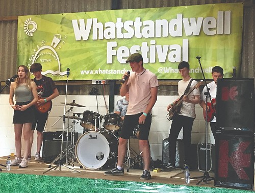 Band of stage at Whatstandwell Festival